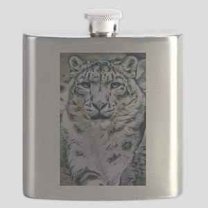 Snow Leopard Flask