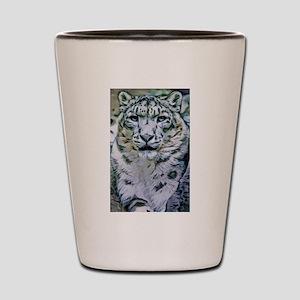 Snow Leopard Shot Glass