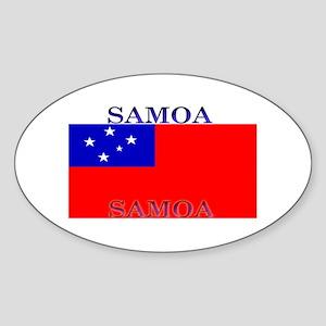 Samoa Samoan Flag Oval Sticker