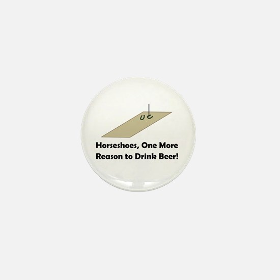 Horseshoes and Beer Mini Button