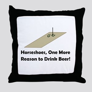 Horseshoes and Beer Throw Pillow