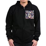 Geometric Grunge Pattern Sweatshirt