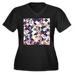 Geometric Grunge Pattern Plus Size T-Shirt