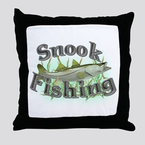 Snook Fishing Throw Pillow