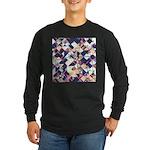 Geometric Grunge Pattern Long Sleeve T-Shirt