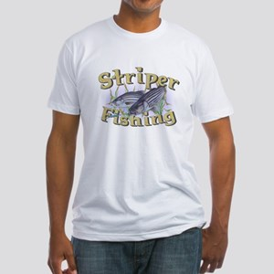 Striper Fishing Fitted T-Shirt