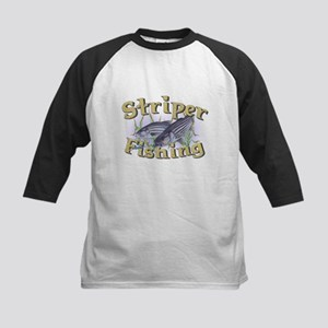 Striper Fishing Kids Baseball Jersey