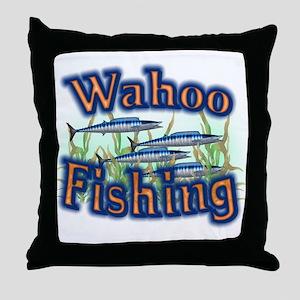 Wahoo Fishing Throw Pillow