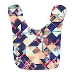 Geometric Grunge Pattern Polyester Baby Bib