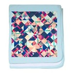 Geometric Grunge Pattern baby blanket