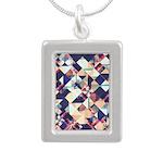 Geometric Grunge Pattern Necklaces