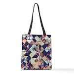 Geometric Grunge Pattern Polyester Tote Bag
