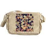 Geometric Grunge Pattern Messenger Bag