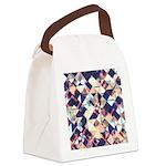 Geometric Grunge Pattern Canvas Lunch Bag