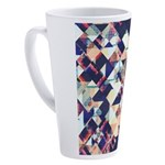 Geometric Grunge Pattern 17 oz Latte Mug