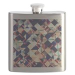 Geometric Grunge Pattern Flask
