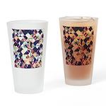 Geometric Grunge Pattern Drinking Glass