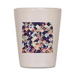 Geometric Grunge Pattern Shot Glass