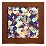 Geometric Grunge Pattern Framed Tile