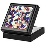 Geometric Grunge Pattern Keepsake Box