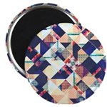 Geometric Grunge Pattern Magnets