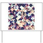 Geometric Grunge Pattern Yard Sign