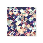 Geometric Grunge Pattern Sticker