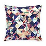 Geometric Grunge Pattern Everyday Pillow