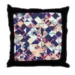 Geometric Grunge Pattern Throw Pillow