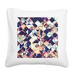 Geometric Grunge Pattern Square Canvas Pillow