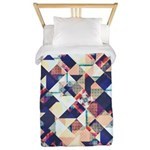 Geometric Grunge Pattern Twin Duvet Cover