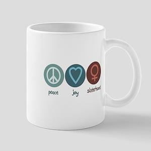 Peace Joy Sisterhood Mug