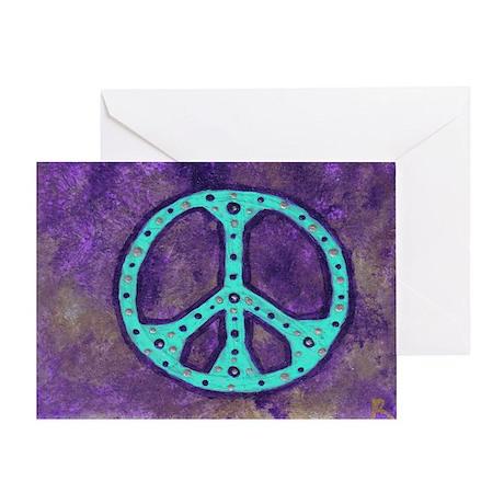 Purple Peace - Greeting Card