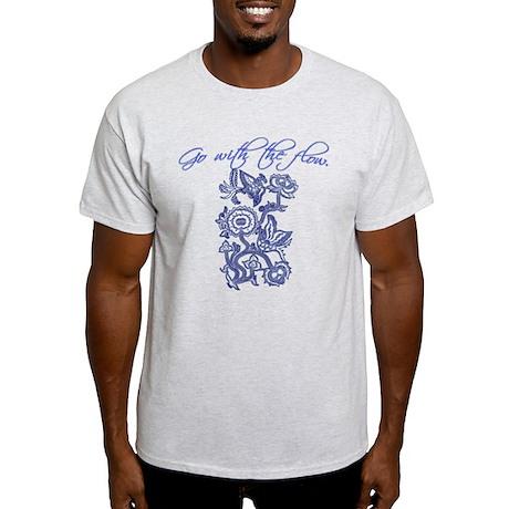 Beautiful Blue and White Yoga Light T-Shirt