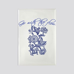 Beautiful Blue and White Yoga Rectangle Magnet