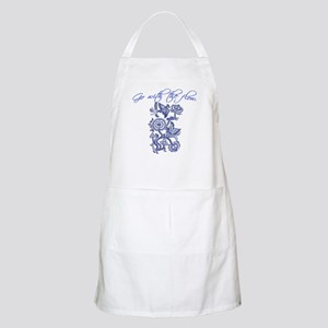 Beautiful Blue and White Yoga BBQ Apron