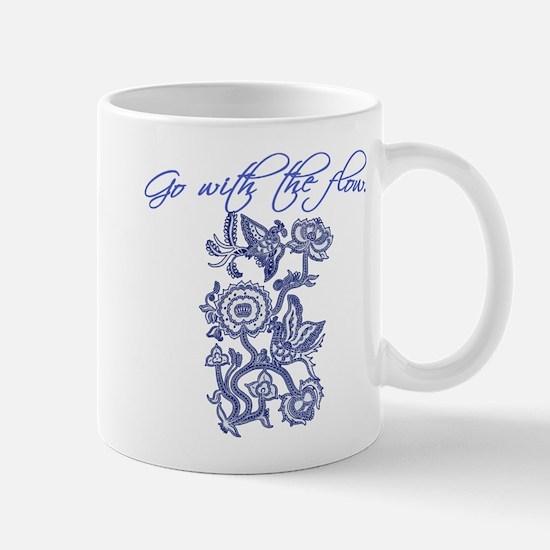 Beautiful Blue and White Yoga Mug