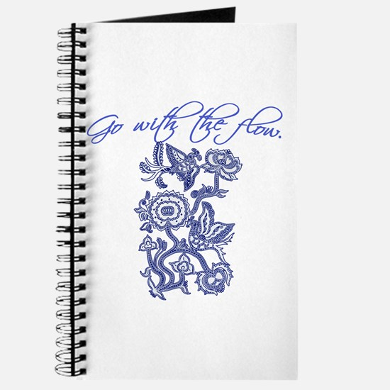 Beautiful Blue and White Yoga Journal