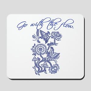 Beautiful Blue and White Yoga Mousepad