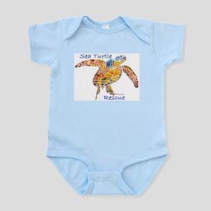 Sea Turtle Rescue 1 Infant Bodysuit