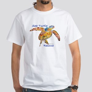 Sea Turtle Rescue 1 White T-Shirt