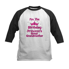 1st Birthday Princess's Great Kids Baseball Jersey