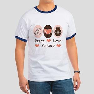 Peace Love Pottery Ringer T