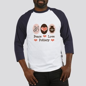 Peace Love Pottery Baseball Jersey