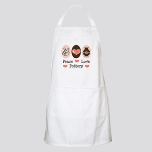 Peace Love Pottery BBQ Apron