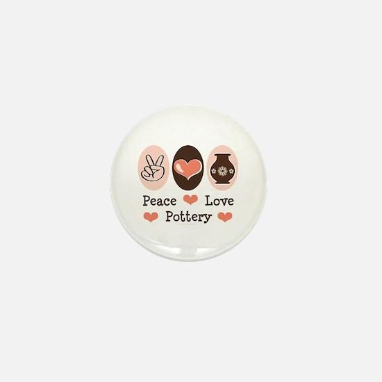 Peace Love Pottery Mini Button