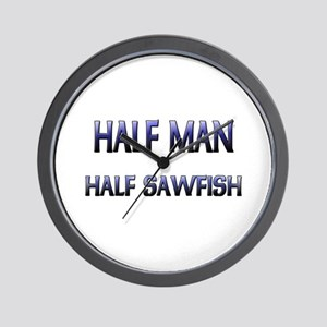 Half Man Half Sawfish Wall Clock