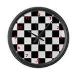 Checkerboard clock Large Wall Clock