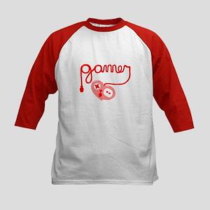 Gamer Heart Kids Baseball Jersey