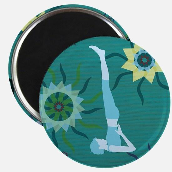 "Heels Over Head for Yoga 2.25"" Magnet (10 pack)"